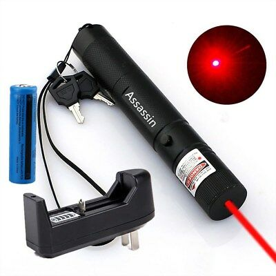 High Quality 50Mile Red Laser Pointer Pen 650nm Burn Lazer 18650 Battery Charger