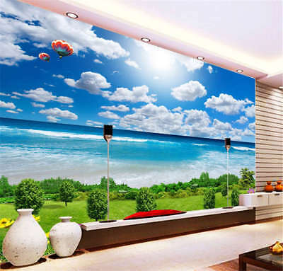 Exclusive Sunny Sky 3D Full Wall Mural Photo Wallpaper Printing Home Kids Decor