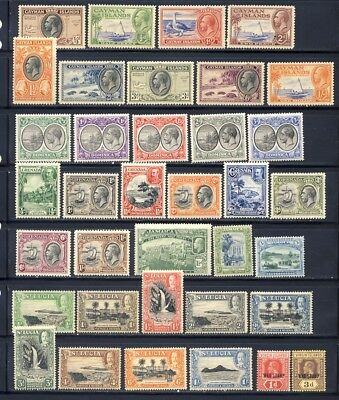 King George V mnh stamps from British American colonies on one page.