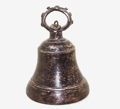 1900's Old Antique Beautiful Shape Bronze Mixed Cast Brass Temple Bell #387