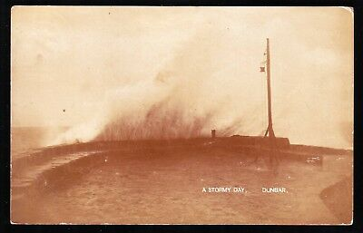 Dunbar A Stormy Day Vintage Photograph Postcard