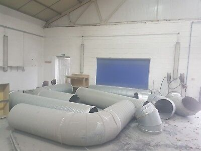 600mm pipe ducting spray booth oven extraction