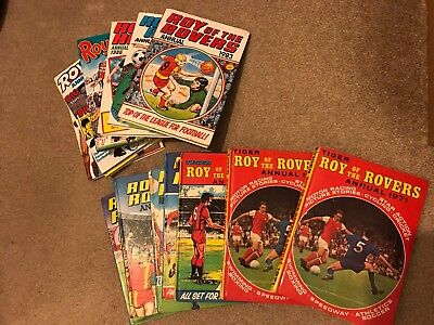 Roy of the Rovers Annuals Between 1971 - 1990 (13 Nr)