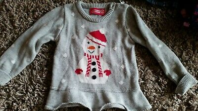 Grey Christmas jumper size 18-24 months