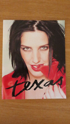 Texas Greatest Hits Tour Programme 2001 Excellent Condition