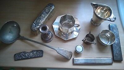 silver collection of items
