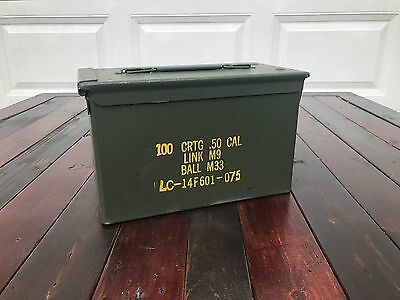 50 Cal M2a1 AMMO CANS BOXES CASES Good condition