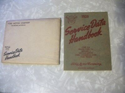 1939 Ford-Mercury-Lincoln-Truck Service Data Book-Owners Manual-Nos-65 Pg-Mint