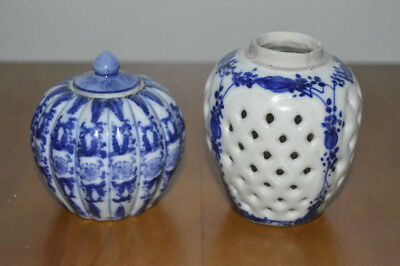 Vintage Chinese Blue & White Pots