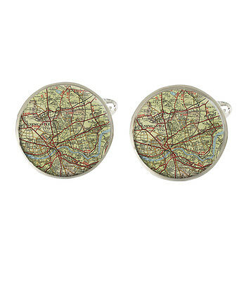 London Map Mens Cufflinks Ideal Wedding Birthday Or Fathers Day Gift C256