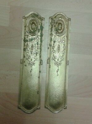Pair of cast brass finger plates
