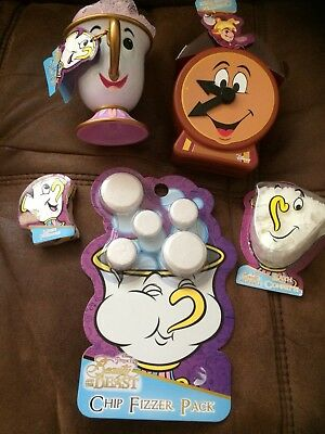 Disney Primark Beauty And The Beast Bath Time Set Chip Cogsworth And Other Items