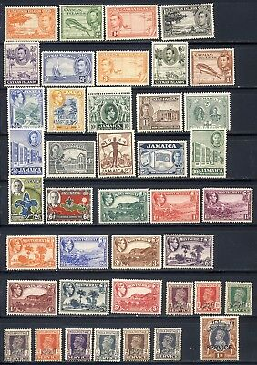 King George VI mnh vf stamp collection from different colonies with good value