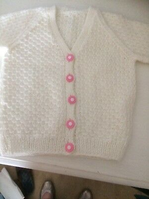 Hand Knitted  Girls Cardigan 12-18 Months