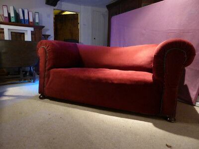 Antique Victorian Drop Arm Chesterfield Sofa