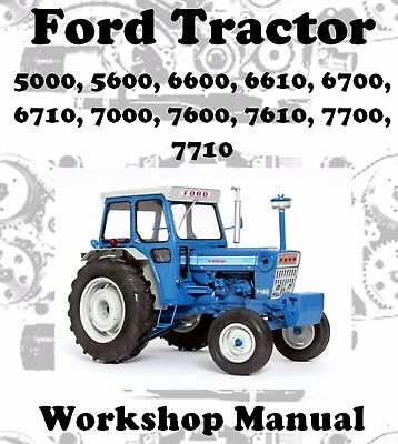 FORD TRACTOR 5000, 5600, 6600, 6610, 6700 to 7710 WORKSHOP MANUAL DOWNLOAD