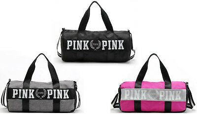 Victoria's Secret Bag - Love Pink Duffel / Gym Bags - Black, Grey, Pink