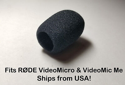 Foam Windscreen Muff Shield for RODE VideoMicro & VideoMic Me STEALTH! No Block!