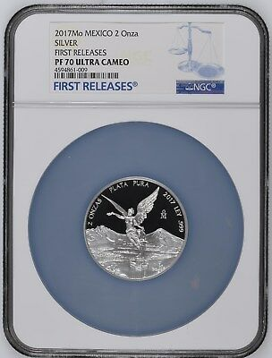 2017 Silver 2 oz Libertad Proof-70 Ultra Cameo PF70 UCAM  Only 17 Top Graded NGC