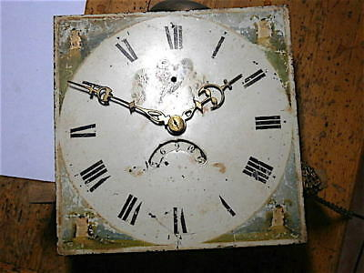 11x11 inch 30HR   c1830 LONGCASE  CLOCK dial + movement
