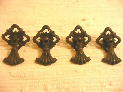 Antique/ Vintage Brass Drawer Pulls Lot Set of (4)