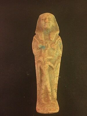 Rare Ancient Egyptian Faience Shabti With Anubis (945-715 BC.)