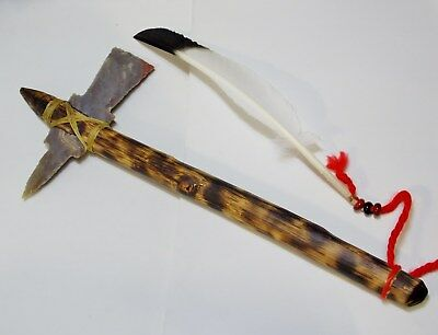 Native American Handmade Authentic Indian Replica War Club or Tomahawk.