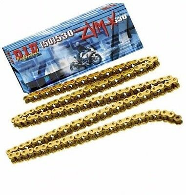Kawasaki ZZR1400 11-14 DID ZVM SUPER HEAVY DUTY GOLD X-Ring Chain 530ZVMX 118