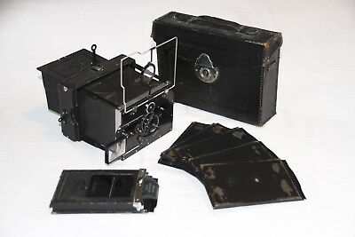 Excellent condition ICA Bebe 41 camera 6x9 format with case and SDS
