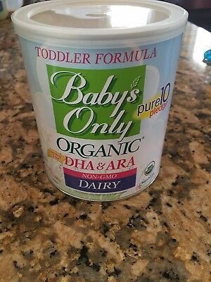 5-12.7 oz cans of Baby's Only Organic Toddler Formula DHA & ARA Dairy