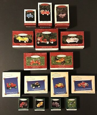 Lot of 16 Hallmark Keepsake Ornaments Kiddie Car Classics 1994-2005 Pedal Cars