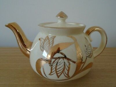 Vintage Gibsons Gilt Finished Small Teapot