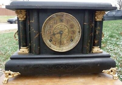 Gilbert Adamantine Mantel Clock for parts , repair, or to restore