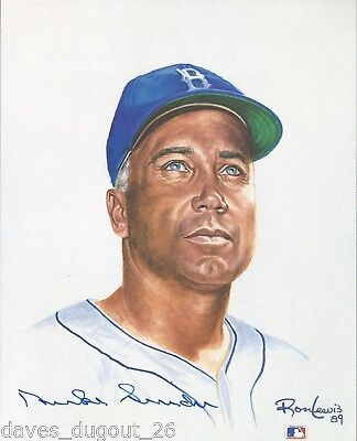 DUKE SNIDER 8 x 10 Living Legends print by Ron Lewis - SIGNED - Authentic
