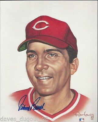 JOHNNY BENCH 8 x 10 Living Legends print by Ron Lewis - SIGNED - Authentic