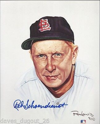 RED SCHOENDIENST 8 x 10 Living Legends print by Ron Lewis - SIGNED - Authentic