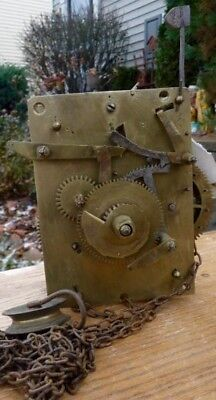 American Antique 30 hour  Tall Case Movement, Weight Driven, Rack & Strike