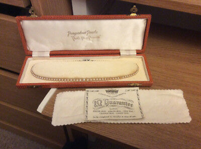 Pompadour Pearls Pearl Necklace With Box / Original Sale Guarantee From 1966