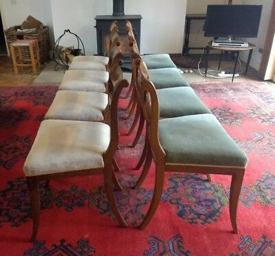 Antique Biedermeier Mahogany chairs 1820-1830