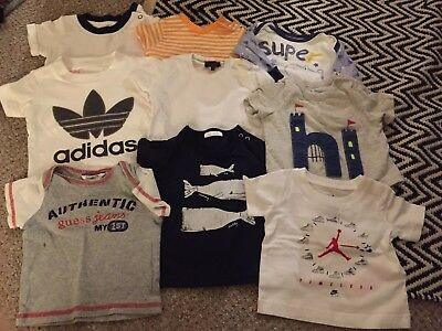Tops And Shirt Bundle 0-3 Months Nike & Adidas, Next L, Gap & guess jeans