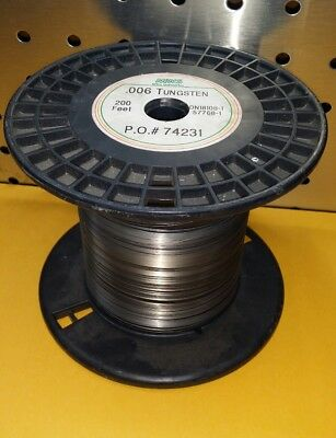"Tungsten wire 0.15  mm / 0.006 ""  10ft. Experiments Foam Cutting igniters"