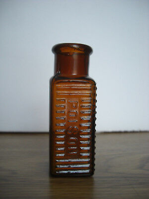 Nice Minty Amber Embossed Poison Square Bottle