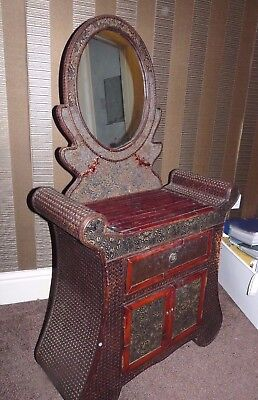 Antique Chinese Cabinet / Dressing Table with Mirror Very Attractive BOLTON