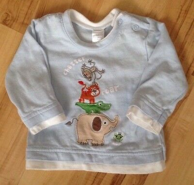 Baby Boy's Blue Animal Top Size 0-3 Months Babies R Us Good Condition