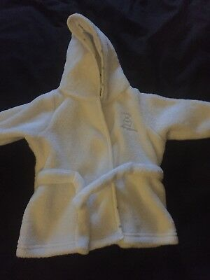 White Dressing Gown 0-3 Months