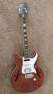 Vintage Harmony Hollow Body Electric Guitar