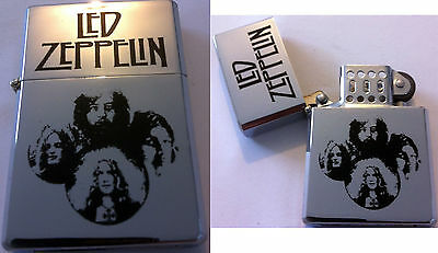 LED ZEPPELIN Refiilable Metal Four Faces Silver LIGHTER NEW OFFICIAL MERCH RARE