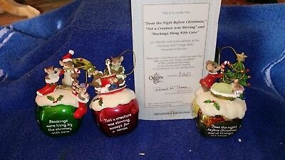 Charming Tails-- Jingle Bells Ornament  Collection