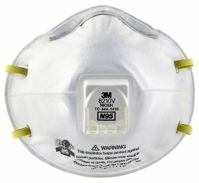 3M Particulate Respirator 8210V N95 Respiratory Protection (10 Each Per Box)