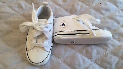 BN Baby Converse, Pram Shoes, Size 4, White